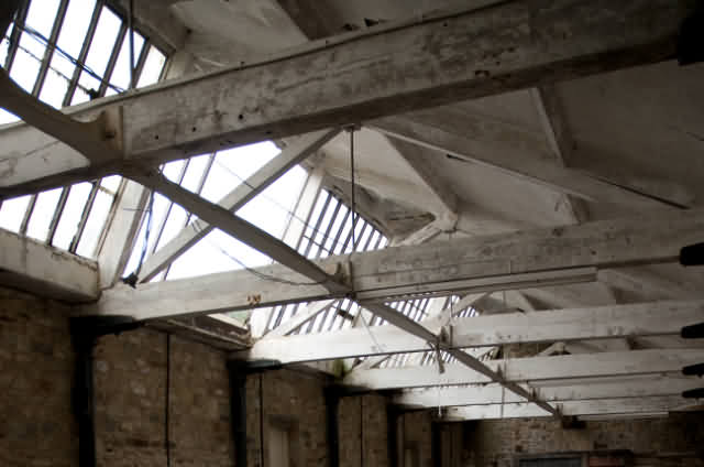 Photograph of Lothersdale Mill Weaving Shed Roof